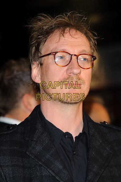 David Thewlis.'Anonymous' London Film Festival premiere, Empire cinema, Leicester Square, London, England..25th October 2011.headshot portrait black grey gray check jacket glasses goatee facial hair .CAP/CJ.©Chris Joseph/Capital Pictures