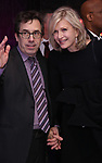 Mark Harris and Diane Sawyer attends the Broadway Opening Night After Party for 'Angels in America'  at Espace on March 25, 2018 in New York City.