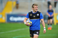 Jonathan Evans of Bath Rugby looks on during the pre-match warm-up. West Country Challenge Cup match, between Gloucester Rugby and Bath Rugby on September 13, 2015 at the Memorial Stadium in Bristol, England. Photo by: Patrick Khachfe / Onside Images