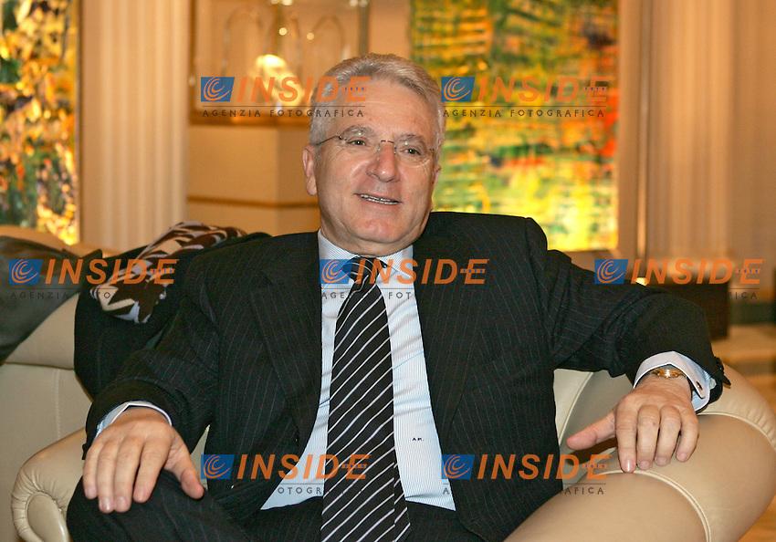 Roma 20/2/2007 Hotel Esedra. Il Presidente della Lega Calcio Antonio Matarrese<br /> Foto Andrea Staccioli Inside