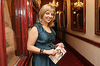 26/8/2010. NO REPRO FEE. Little Gem Opening night.  Elaine Murphy writer of the play is pictured at the Olympia Theatre Dublin for the opening night of Little Gem. Hilda Fay makes her return as Lorraine, Anita Reeves continues in the role of Kay, and Genevieve Hulme-Beaman takes on the role of Amber. After sell-out seasons in New York, London and Paris and a sold-out 7-week run at Ireland's National Theatre, Gúna Nua is bringing its bittersweet comedy Little Gem back to Dublin for 10 shows only at The Olympia Theatre from August 26 to September 4, 2010. Love, sex, birth, death, dildos and salsa classes: Elaine Murphy's award winning Little Gem sees three generations of Dublin women on a wild and constantly surprising journey. Picture James Horan/Collins Photos