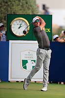 Alexander Bjork (SWE) on the 10th tee during the 3rd round of the DP World Tour Championship, Jumeirah Golf Estates, Dubai, United Arab Emirates. 17/11/2018<br /> Picture: Golffile | Fran Caffrey<br /> <br /> <br /> All photo usage must carry mandatory copyright credit (&copy; Golffile | Fran Caffrey)