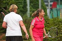 2013,August 24,Netherlands, Amstelveen,  TV de Kegel, Tennis, NVK 2013, National Veterans Tennis Championships,   Ladie's doubles<br /> Photo: Henk Koster