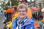 Annemiek Van Vleuten's (NED) mum delighted at the end of the Women Elite Road Race of the UCI World Championships 2019 running 149.4km from Bradford to Harrogate, England. 28th September 2019.<br /> Picture: Seamus Yore | Cyclefile<br /> <br /> All photos usage must carry mandatory copyright credit (© Cyclefile | Seamus Yore)
