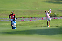 PATTAYA, THAILAND - FEBRUARY 22: Nelly Korda of USA 2nd shot on the 2nd fairway during the second round of the Honda LPGA Thailand 2019 at Siam Country Club Pattaya (Old Course), Pattaya, Thailand on February 22, 2019.<br /> .<br /> .<br /> .<br /> (Photo by: Naratip Golf Srisupab/SEALs Sports Images)<br /> .<br /> Any image use must include a mandatory credit line adjacent to the content which should read: Naratip Golf Srisupab/SEALs Sports Images