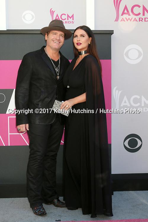 LAS VEGAS - APR 2:  Jerrod Niemann, Morgan Petek at the Academy of Country Music Awards 2017 at T-Mobile Arena on April 2, 2017 in Las Vegas, NV
