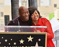 LOS ANGELES, CA. January 28, 2019: Taraji P. Henson & John Singleton at the Hollywood Walk of Fame Star Ceremony honoring Taraji P. Henson.<br /> Pictures: Paul Smith/Featureflash