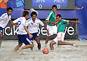(R-L) Gustavo Rosales, Ricardo Villalobos (MEX), Masahito Toma, Shunta Suzuki, Teruki Tabata (JPN),SEPTEMBER 2, 2011 - Beach Soccer :FIFA Beach Soccer World Cup Ravenna/Italy 2011, Group D match between Japan 2-3 Mexico at Stadio del Mare in Marina di Ravenna, Ravenna, Italy. (Photo by Wataru Kobayakawa/AFLO)