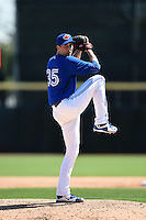 Toronto Blue Jays pitcher Jeff Francis (35) during a Spring Training game against the Houston Astros on March 9, 2015 at Florida Auto Exchange Stadium in Dunedin, Florida.  Houston defeated Toronto 1-0.  (Mike Janes/Four Seam Images)