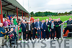 CUTTING: John Delaney and Martin O'Neill cut the tape to officially opened the All New Weather Pitch at Mounthawk Park,Tralee on Wednesday evening.