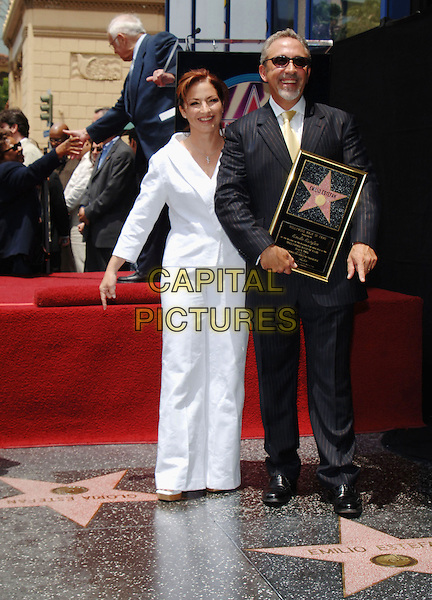 GLORIA ESTEFAN & EMILIO ESTEFAN.Emilio Estefan Receives Star on The Hollywood Walk Of Fame, Hollywood, California, .USA, 09 June 2005..full length frame married husband wife.Ref: ADM.www.capitalpictures.com.sales@capitalpictures.com.©Jacqui Wong/AdMedia/Capital Pictures.