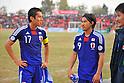 Makoto Hasebe, Shinji Okazaki (JPN), NOVEMBER 11, 2011 - Football / Soccer : 2014 FIFA World Cup Asian Qualifiers Third round Group C match between Tajikistan - Japan at Central Stadium in Dushanbe, Tajikistan. (Photo by Jinten Sawada/AFLO)