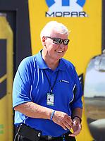Jul 23, 2017; Morrison, CO, USA; Track president John Bandimere during the NHRA Mile High Nationals at Bandimere Speedway. Mandatory Credit: Mark J. Rebilas-USA TODAY Sports