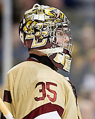 Parker Milner (BC - 35) - The Boston College Eagles defeated the Northeastern University Huskies 7-1 in the opening round of the 2012 Beanpot on Monday, February 6, 2012, at TD Garden in Boston, Massachusetts.