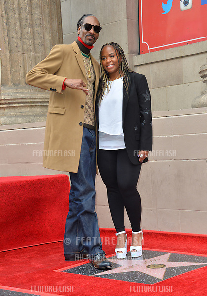 LOS ANGELES, CA. November 19, 2018: Snoop Dogg & Shante Taylor at the Hollywood Walk of Fame Star Ceremony honoring Snoop Dogg.<br /> Pictures: Paul Smith/Featureflash