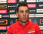 Vincenzo Nibali (ITA) Bahrain-Merida at top riders press conference in Lido di Camaiore start venue ahead of the 54th Tirreno-Adriatico 2019 stage race, Italy. 12th March 2019.<br /> Picture: LaPresse/Gian Mattia D'Alberto | Cyclefile<br /> <br /> <br /> All photos usage must carry mandatory copyright credit (© Cyclefile | LaPresse/Gian Mattia D'Alberto)