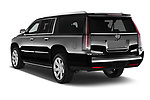 Car pictures of rear three quarter view of a 2018 Cadillac Escalade ESV 2WD Luxury 5 Door SUV Angular Rear
