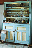 Dresser in historic cottage of Dan O'Hara, evicted by the British and forced to emigrate, Connemara, County Galway, Ireland