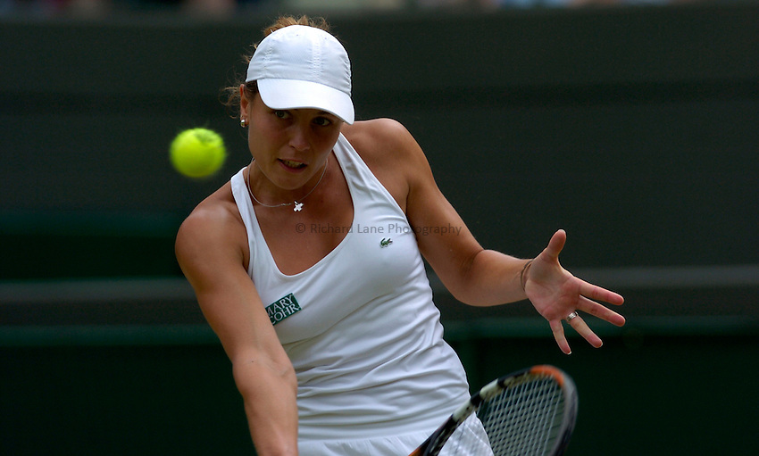 Photo: Richard Lane..Wimbledon Championships. 04/07/2006. .Severine Bremond of France during her quarter final match.