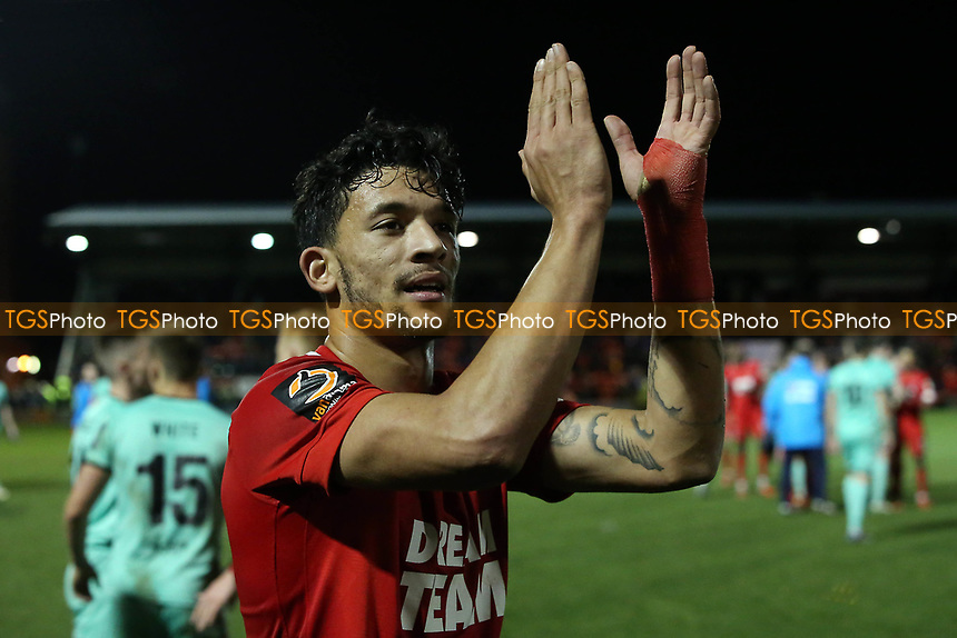 O's Macauley Bonne at FT during Leyton Orient vs Gateshead, Vanarama National League Football at The Breyer Group Stadium on 1st December 2018