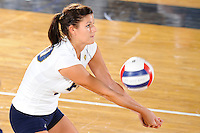 13 September 2008:  FIU libero Mariana Drumeva (10) saves a shot in the first set of the FIU 3-0 (25-11, 25-19, 25-19) victory over Penn in the 2008 FIU Invitational tournament at Panther Arena in Miami, Florida.