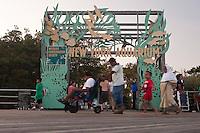 New York Aquarium on Coney Island Boardwalk in New York city borough of Brooklyn, Sunday July 31, 2011. Opened in Castle Garden in Battery Park, Manhattan in 1896 and located on the boardwalk in Coney Island since 1957, The New York Aquarium is the oldest continually operating aquarium in the United States.