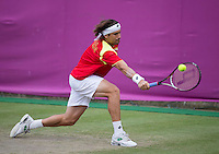 David Ferrer..Tennis - OLympic Games -Olympic Tennis -  London 2012 -  Wimbledon - AELTC - The All England Club - London - Thursday 2nd August  2012. .© AMN Images, 30, Cleveland Street, London, W1T 4JD.Tel - +44 20 7907 6387.mfrey@advantagemedianet.com.www.amnimages.photoshelter.com.www.advantagemedianet.com.www.tennishead.net