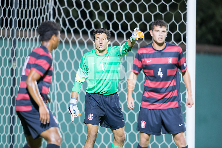Stanford, CA - October 9, 2015:  Stanford Men\'s Soccer vs Washington on Friday night at Cagan Stadium. The Cardinal tied the Huskies 0-0.