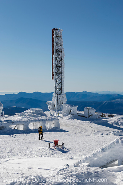 The summit of Mount Washington in the White Mountains, New Hampshire USA during the winter months.