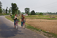 General views of villages and agriculture in Bardia district, Western Nepal, on 29th June 2012. In Bardia, StC works with the district health office to build the capacity of female community health workers who are on the frontline of health service provision like ante-natal and post-natal care, and working together against child marriage and teenage pregnancy especially in rural areas. Photo by Suzanne Lee for Save The Children UK