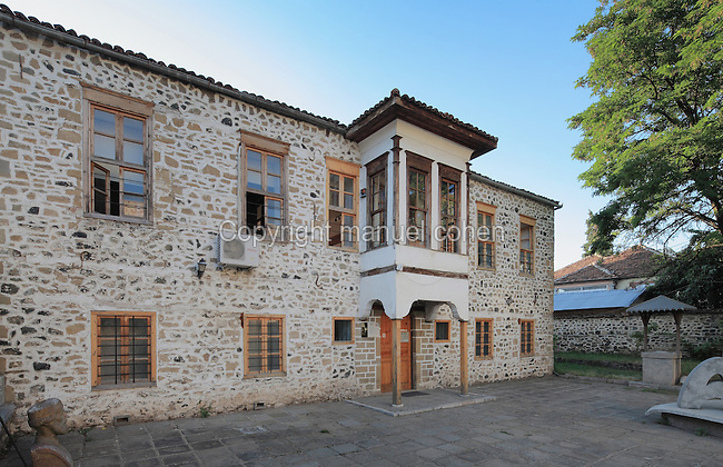 National Education Museum or Muzeu i Arsimit, housed in the first officially recognised Albanian school in modern Albania or Mesonjetorja e Pare Shqipe, which taught in the Abanian language, Korce, Albania. The school was opened in 1887 and became a museum in 1960. Picture by Manuel Cohen