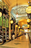 England. London, Piccadilly Arcade in the West End.  High class shopping mall off Piccadilly.