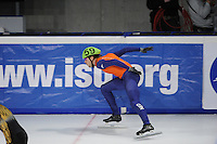 SCHAATSEN: DORDRECHT: Sportboulevard, Korean Air ISU World Cup Finale, 11-02-2012, Relay Men, Daan Breeuwsma NED (59),