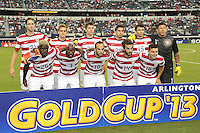 USMNT starting eleven prior to the match against Honduras on July 24, 2013 at Dallas Cowboys Stadium in Arlington, TX.
