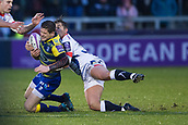 9th December 2017, AJ Bell Stadium, Salford, England; European Rugby Challenge Cup, Sale Sharks versus Cardiff Blues; Sale Sharks' Will Cliff makes a tackle