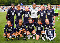Starting 11 for the WPS All Stars before their match against Umeå IK at Anheuser-Busch Soccer Park, in St. Louis, MO, June 7, 2009. The WPS All Stars won the match 4-2.