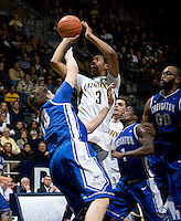 Tyrone Wallace of California shoots the ball during the game against Creighton at Haas Pavilion in Berkeley, California on December 15th, 2012.   Creighton defeated California, 74-64.