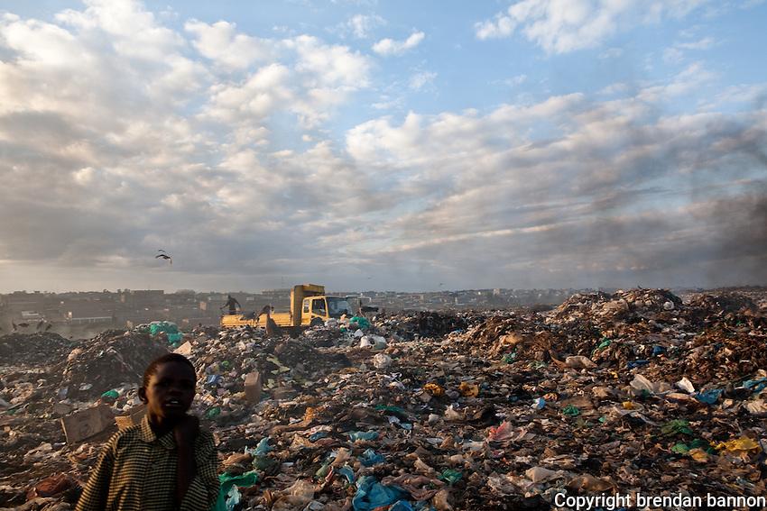 An overview of dandora dump site in Nairobi, Kenya.