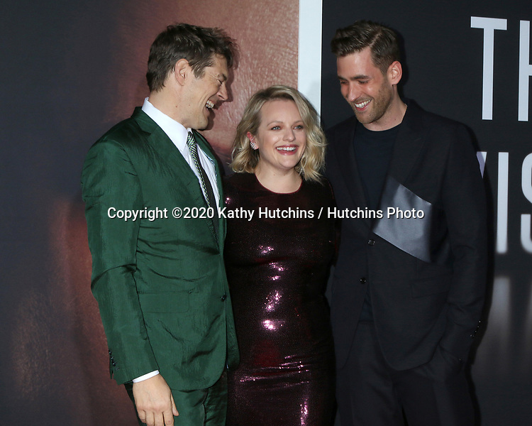 "LOS ANGELES - FEB 24:  Jason Blum, Elisabeth Moss, and Oliver Jackson-Cohe at the ""The Invisible Man"" Premiere at the TCL Chinese Theater IMAX on February 24, 2020 in Los Angeles, CA"