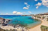 Mikri Amoopi beach in Karpathos, Greece