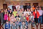 21st : Garry O'Sullivan Stephens Park, Castleisland ( seated 3rd from right) who celebrated his 21st with family and friends in The Crown Hotel, Castleisland on Friday night..