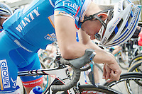 Bjorn Leukemans (BEL/Wanty-GroupeGobert) concentrated before the start<br /> <br /> Gent-Wevelgem 2014