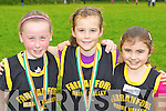 Farranfore/Maine Valley athletes who participated at the Kerry Cross Country championships in Killarney on Sunday l-r: Chloe O'connor, Ciara Kearney and Meaghan Brosnan..