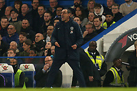 Chelsea manager Maurizio Sarri during Chelsea vs Tottenham Hotspur, Premier League Football at Stamford Bridge on 27th February 2019