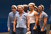 "Alex Ferns as Luther Billis.  Ex-Eastenders Actress Samantha Womack stars as Nellie Forbush in the Rogers and Hammerstein musical ""South Pacific"", running at the Barbican Theatre, London."