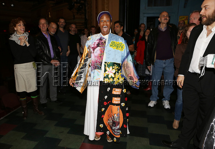 Anastacia McCleskey during the Opening Night Broadway AEA Gypsy Robe Ceremony honoring Anastacia McCleskey for 'Violet'  at The American Airlines Theatre on April 20, 2014 in New York City.
