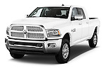 2017 Ram 2500 Laramie Mega Cab 4 Door Truck Angular Front stock photos of front three quarter view