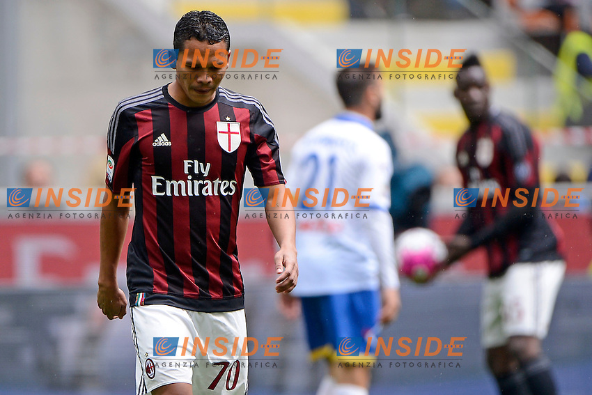 Delusione Carlos Bacca Milan<br /> Milano 01-05-2016 Stadio Giuseppe Meazza - Football Calcio Serie A Milan - Frosinone. Foto Giuseppe Celeste / Insidefoto