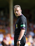 Motherwell v St Johnstone...11.08.12.Ref Iain Brines.Picture by Graeme Hart..Copyright Perthshire Picture Agency.Tel: 01738 623350  Mobile: 07990 594431