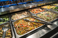 A salad bar in a delicatessen in New York on Tuesday, October 6, 2015. (© Richard B. Levine)